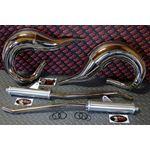 Vito's Performance FAT BASTARD pipes in frame 1987-2006 Yamaha Banshee CHROME