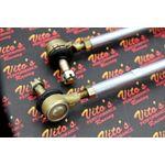 2 x NEW Vito's Yamaha Banshee SILVER tie rods ball joints STOCK LENGTH kit