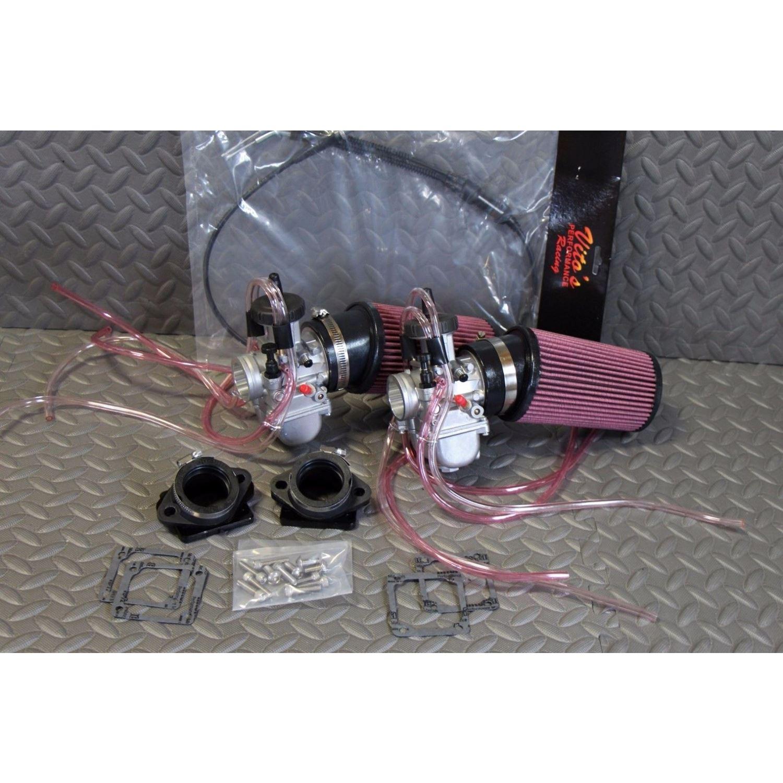 NEW 2 x 35mm carburetors carbs + throttle cable Ba