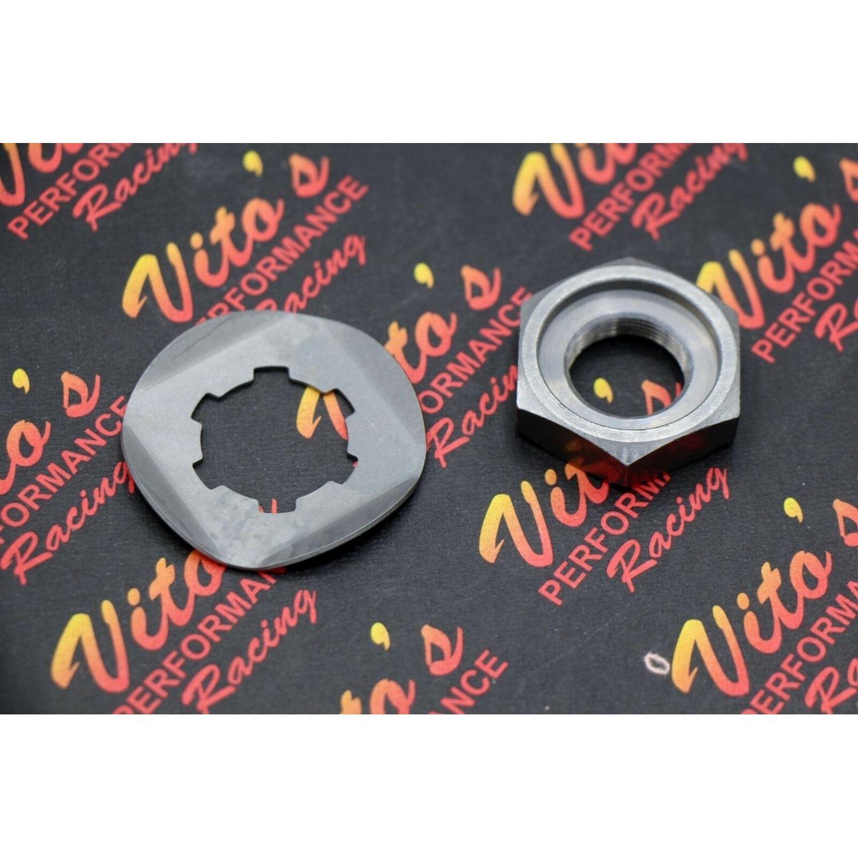 NEW Yamaha Banshee chain front sprocket NUT + LOCK