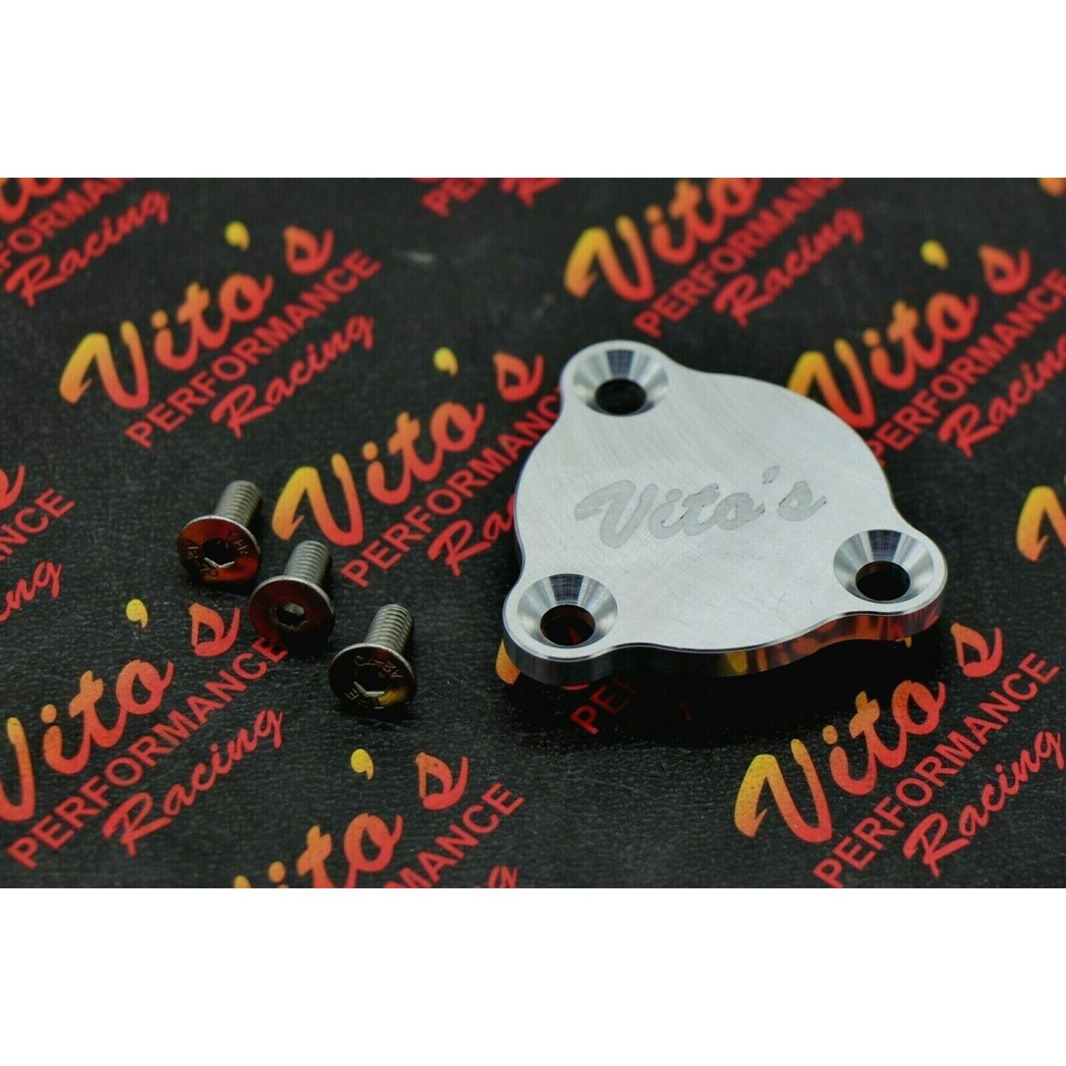 Neutral safety switch block off cover plate BILLET